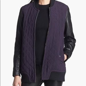 """rag & bone """"Pacific"""" jacket quilted leather Sz M"""